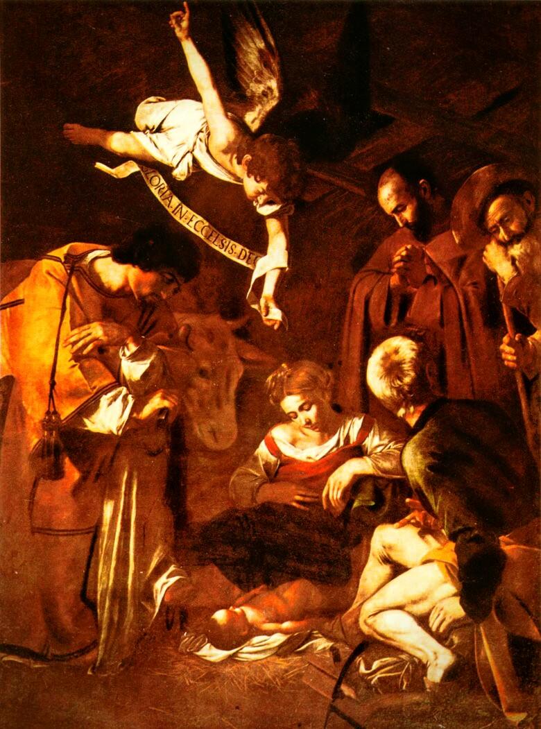 Davanti al presepe con il Papa e con Matteo
